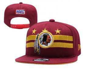 Wholesale Cheap Redskins Team Logo Red 2019 Draft Adjustable Hat YD