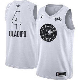 Wholesale Cheap Nike Pacers #4 Victor Oladipo White NBA Jordan Swingman 2018 All-Star Game Jersey