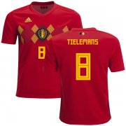 Wholesale Cheap Belgium #8 Tielemans Home Kid Soccer Country Jersey