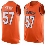 Wholesale Cheap Nike Broncos #57 Demarcus Walker Orange Team Color Men's Stitched NFL Limited Tank Top Jersey