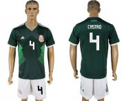 Wholesale Cheap Mexico #4 Castro Green Home Soccer Country Jersey