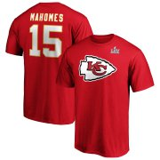 Wholesale Cheap Men's Kansas City Chiefs #15 Patrick Mahomes NFL Red Super Bowl LIV Bound Halfback Player Name & Number T-Shirt