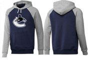 Wholesale Cheap Vancouver Canucks Pullover Hoodie Dark Blue & Grey