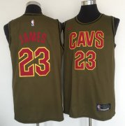 Wholesale Cheap Cleveland Cavaliers #23 Lebron James Olive Nike Swingman Jersey