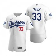 Wholesale Cheap Los Angeles Dodgers #33 David Price White 2020 World Series Champions Jersey