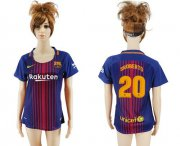 Wholesale Cheap Women's Barcelona #20 S.Roberto Home Soccer Club Jersey