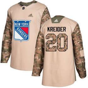 Wholesale Cheap Adidas Rangers #20 Chris Kreider Camo Authentic 2017 Veterans Day Stitched Youth NHL Jersey