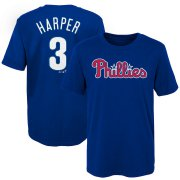 Wholesale Cheap Philadelphia Phillies #3 Bryce Harper Majestic Youth Name & Number T-Shirt Royal