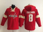 Wholesale Cheap Washington Capitals #8 Alex Ovechkin Red Pullover NHL Hoodie