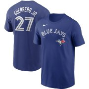 Wholesale Cheap Toronto Blue Jays #27 Vladimir Guerrero Jr. Nike Name & Number T-Shirt Royal