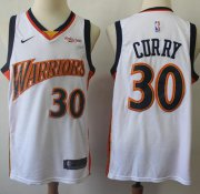 Wholesale Cheap Warriors #30 Stephen Curry White Throwback Basketball Swingman Hardwood Classics 2009-10 Jersey
