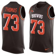 Wholesale Cheap Nike Browns #73 Joe Thomas Brown Team Color Men's Stitched NFL Limited Tank Top Jersey