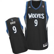 Wholesale Cheap Minnesota Timberwolves #9 Ricky Rubio Black Swingman Jersey