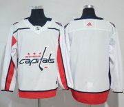 Wholesale Cheap Adidas Capitals Blank White Road Authentic Stitched NHL Jersey