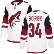 Wholesale Cheap Adidas Coyotes #34 Carl Soderberg White Road Authentic Stitched NHL Jersey