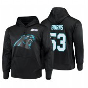 Wholesale Cheap Carolina Panthers #53 Brian Burns Nike NFL 100 Primary Logo Circuit Name & Number Pullover Hoodie Black
