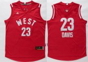 Wholesale Cheap 2015-16 NBA Western All-Stars Men's #23 Anthony Davis Revolution 30 Swingman Red Jersey