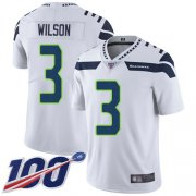 Wholesale Cheap Nike Seahawks #3 Russell Wilson White Men's Stitched NFL 100th Season Vapor Limited Jersey