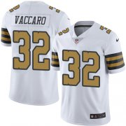 Wholesale Cheap Nike Saints #32 Kenny Vaccaro White Men's Stitched NFL Limited Rush Jersey