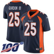Wholesale Cheap Nike Broncos #25 Melvin Gordon III Navy Blue Alternate Youth Stitched NFL 100th Season Vapor Untouchable Limited Jersey