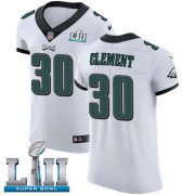 Wholesale Cheap Nike Eagles #30 Corey Clement White Super Bowl LII Men's Stitched NFL Vapor Untouchable Elite Jersey