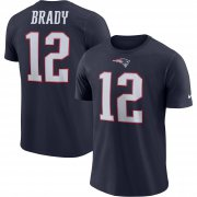 Wholesale Cheap New England Patriots #12 Tom Brady Nike Player Pride Name & Number Performance T-Shirt Navy