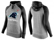 Wholesale Cheap Women's Nike Carolina Panthers Performance Hoodie Grey & Black