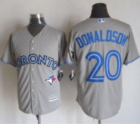 Wholesale Cheap Blue Jays #20 Josh Donaldson Grey New Cool Base Stitched MLB Jersey
