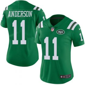Wholesale Cheap Nike Jets #11 Robby Anderson Green Women\'s Stitched NFL Limited Rush Jersey