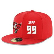 Wholesale Cheap Tampa Bay Buccaneers #99 Warren Sapp Snapback Cap NFL Player Red with White Number Stitched Hat