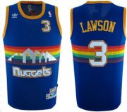 Wholesale Cheap Denver Nuggets #3 Ty Lawson Blue Rainbow Swingman Throwback Jersey