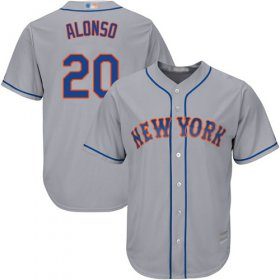 Wholesale Cheap Mets #20 Pete Alonso Grey New Cool Base Stitched MLB Jersey