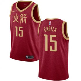 Wholesale Cheap Rockets #15 Clint Capela Red Basketball Swingman City Edition 2018-19 Jersey