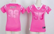 Wholesale Cheap Nike Texans #99 J.J. Watt Pink Women's Stitched NFL Elite Draft Him Shimmer Jersey