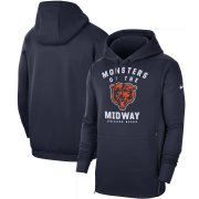 Wholesale Cheap Chicago Bears Nike Sideline Local Performance Pullover Hoodie Navy
