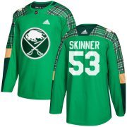 Wholesale Cheap Adidas Sabres #53 Jeff Skinner adidas Green St. Patrick's Day Authentic Practice Stitched NHL Jersey