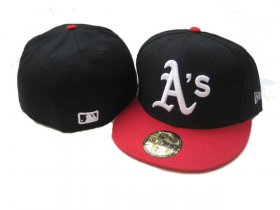 Wholesale Cheap Oakland Athletics fitted hats 07