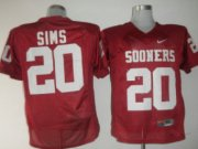 Wholesale Cheap Oklahoma Sooners #20 Sims Red Jersey