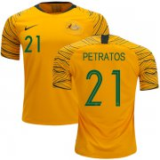 Wholesale Cheap Australia #21 Petratos Home Soccer Country Jersey