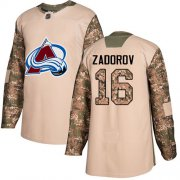 Wholesale Cheap Adidas Avalanche #16 Nikita Zadorov Camo Authentic 2017 Veterans Day Stitched NHL Jersey