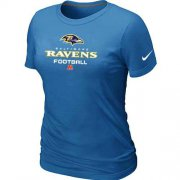 Wholesale Cheap Women's Nike Baltimore Ravens Critical Victory NFL T-Shirt Light Blue