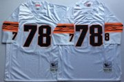 Wholesale Cheap Mitchell And Ness Bengals #78 Anthony Munoz White Throwback Stitched NFL Jersey