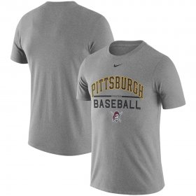 Wholesale Cheap Pittsburgh Pirates Nike Away Practice T-Shirt Heathered Gray