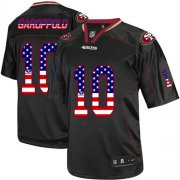Wholesale Cheap Nike 49ers #10 Jimmy Garoppolo Black Men's Stitched NFL Elite USA Flag Fashion Jersey
