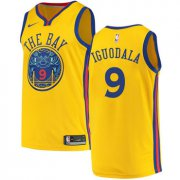 Wholesale Cheap Men's Golden State Warriors #9 Authentic Andre Iguodala Gold City Edition Nike NBA Jersey