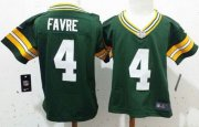 Wholesale Cheap Toddler Nike Packers #4 Brett Favre Green Team Color Stitched NFL Elite Jersey