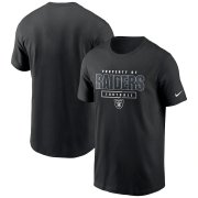 Wholesale Cheap Las Vegas Raiders Nike Team Property Of Essential T-Shirt Black