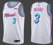 Wholesale Cheap Nike Heat #3 Dwyane Wade White NBA Swingman City Edition Jersey