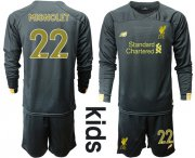 Wholesale Cheap Liverpool #22 Mignolet Black Goalkeeper Long Sleeves Kid Soccer Club Jersey