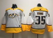 Wholesale Cheap Adidas Predators #35 Pekka Rinne White Road Authentic Stitched Youth NHL Jersey